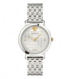 Versace Silver Medusa Chain Watch