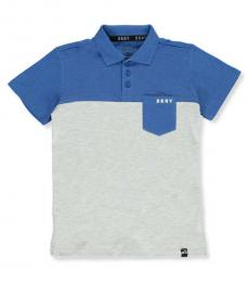 DKNY Little Boys Electric Color Block Pique Polo