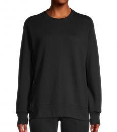 DKNY Black Side-Zip Sweatshirt