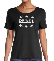 Rebecca Minkoff Black White Rebel Ava T-Shirt