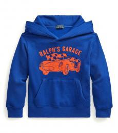 Ralph Lauren Little Boys Heritage Royal Garage Hoodie