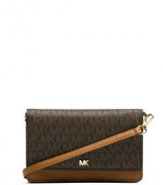 Dark Brown Mott Mini Crossbody Bag