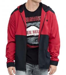 True Religion Ruby Red Nylon Colorblock Jacket