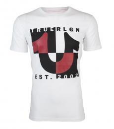 True Religion White Graphic Logo T-Shirt