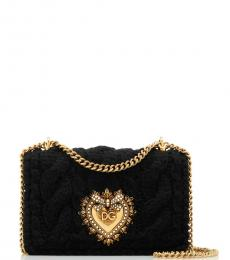Dolce & Gabbana Black Devotion Small Shoulder Bag