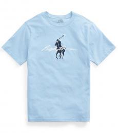 Ralph Lauren Boys Elite Blue Jersey T-Shirt