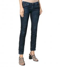 Blue Denim Logo Jeans