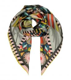 Multi color Printed Silk Scarf