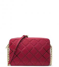 Cherry Dimond Check Small Crossbody