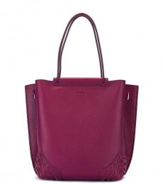 Tod's Cherry Wave Small Tote