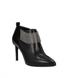 Lanvin Black Front Detail Leather Boots