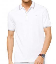 White Greenwich Cotton Polo