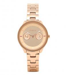 Furla Rose Gold Radiant Metropolis Watch