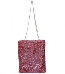 Miu Miu Pink Sequins Large Shoulder Bag