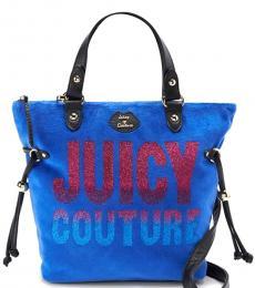 Juicy Couture Royal Blue Logo Medium Tote