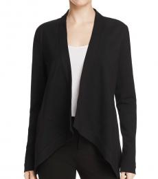DKNY Black Drapey Asymmetric Shrug