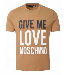 Khaki Graphic Print T-Shirt