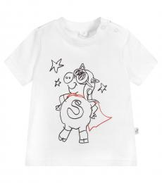 Stella McCartney Baby Boys White Pig Superhero T-Shirt