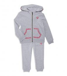 True Religion 2 Piece Hoodie/Sweatpants Set (Baby Girls)