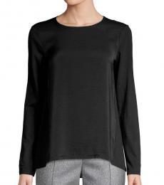 Michael Kors Black High-Low Cotton Top