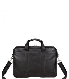 Brown Dual Compartment Large Briefcase Bag