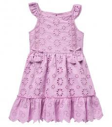 BCBGirls Little Girls Orchid Eyelet Flutter Sleeve Dress