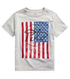 Ralph Lauren Little Boys Andover Heather Flag T-Shirt