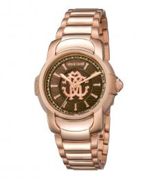 Rose Gold Brown Dial Watch