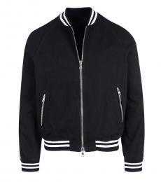 Balmain Black Striped Zipper Jacket