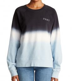 DKNY Black & Light Blue Dyed Sweatshirt
