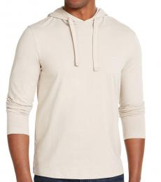 Michael Kors Beige Luxe Cotton Hoodie