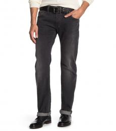 Diesel Dark Grey Regular Slim Straight Fit Jeans