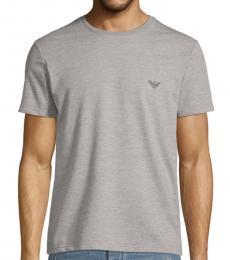 Emporio Armani Grey Logo Graphic T-Shirt