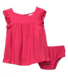 BCBGirls Baby Girls Pink Solid Voile Sundress