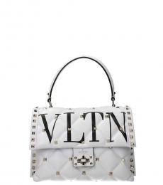 Valentino Garavani White Candystud Small Satchel