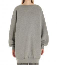 Balenciaga Grey Oversized Retro Neck Sweatshirt