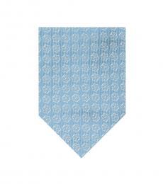 Aqua Star Medallion Tie