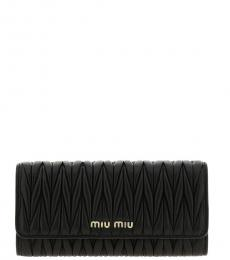 Miu Miu Black Logo Flap Wallet