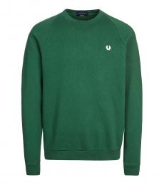 Fred Perry Dark Green Logo Patch Sweatshirt