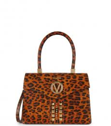 Leopard Melanie Medium Satchel