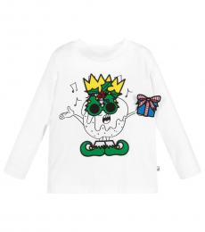 Stella McCartney Boys White Patches T-Shirt