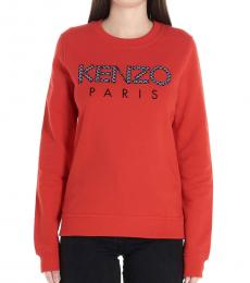 Kenzo Red Logo Cotton Sweatshirt
