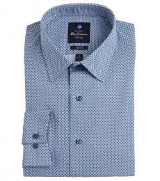 Ben Sherman Blue Mosaic Dress Shirt