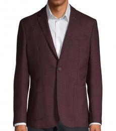Vince Camuto Cherry Plaid Wool-Blend Coat