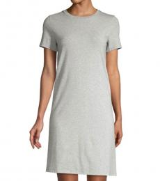 Light Grey Crew Neck T-Shirt Dress