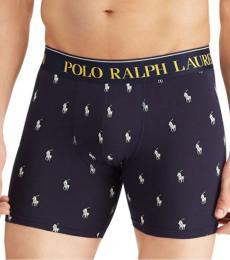 Ralph Lauren Navy Cotton Boxer Briefs