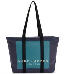 Marc Jacobs Navy Kamala Canvas Logo Large Tote