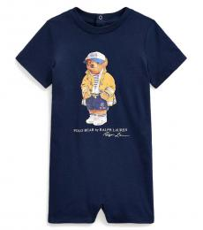 Ralph Lauren Baby Boys Newport Navy CP-93 Bear Shortall