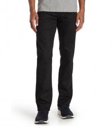Black Ricky Flap Relaxed Straight Leg Jeans