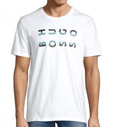 Hugo Boss White Graphic Cotton T-Shirt